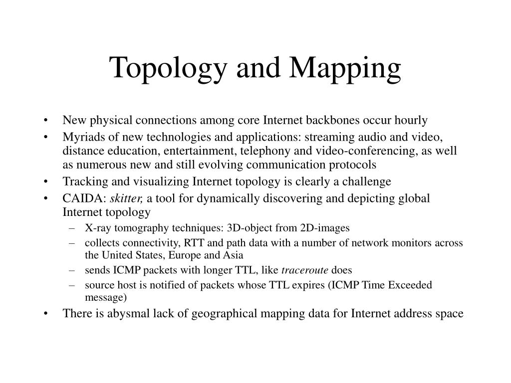 Topology and Mapping