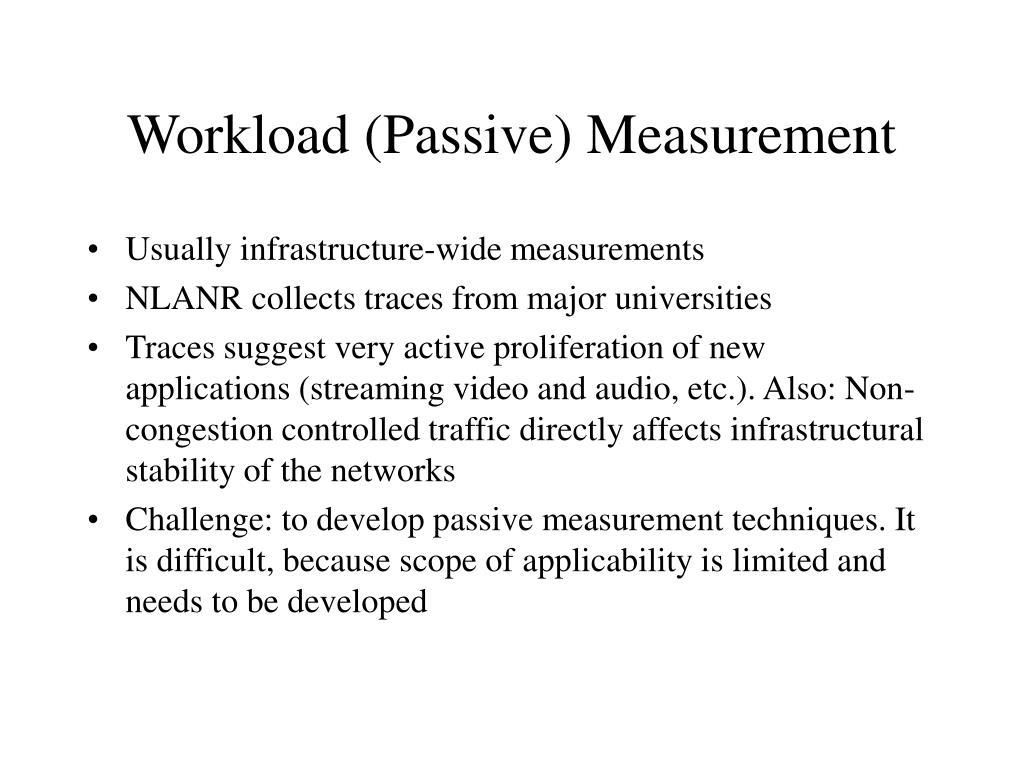 Workload (Passive) Measurement