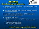 actions shared auditing and measuring