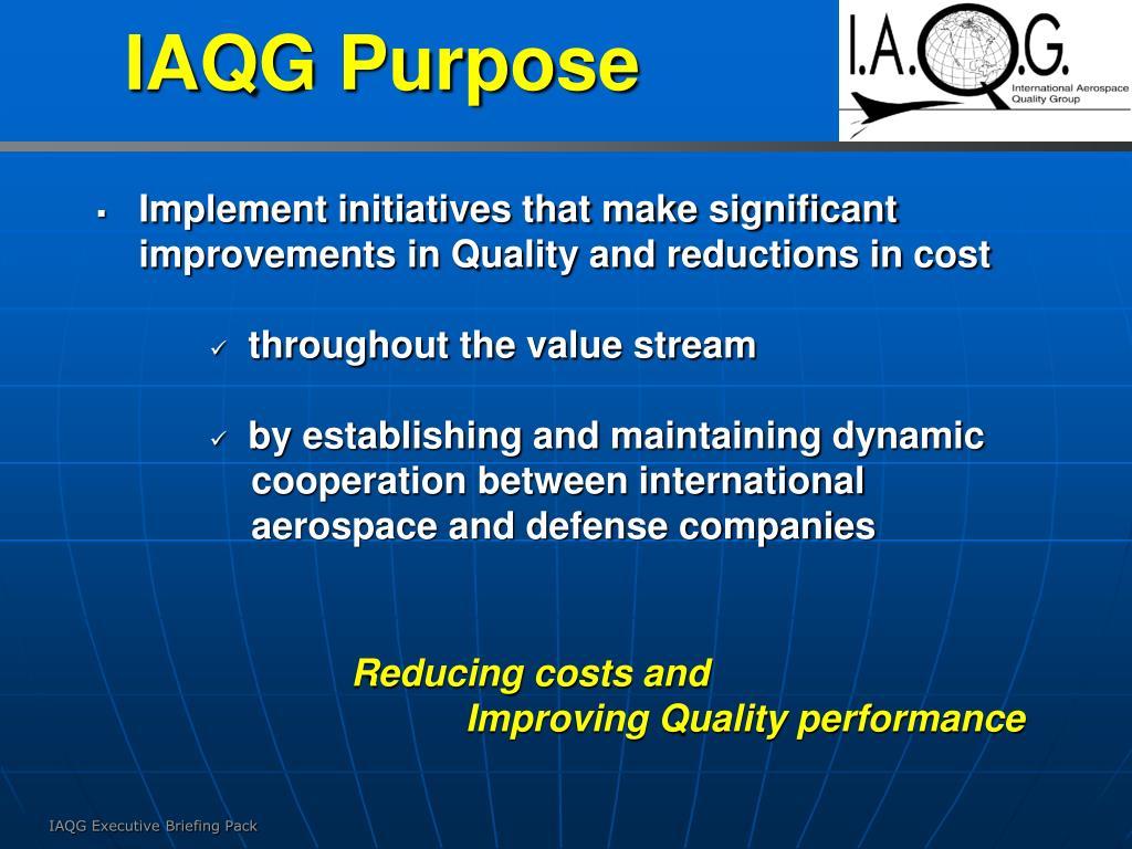 IAQG Purpose