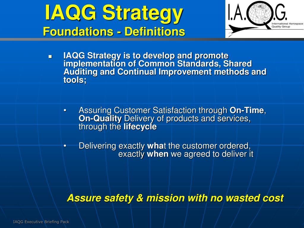 IAQG Strategy