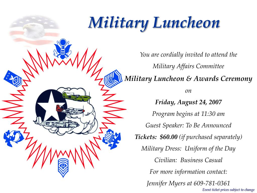 Military Luncheon