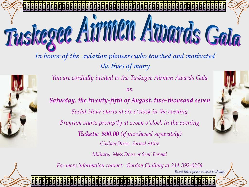 Tuskegee Airmen Awards Gala