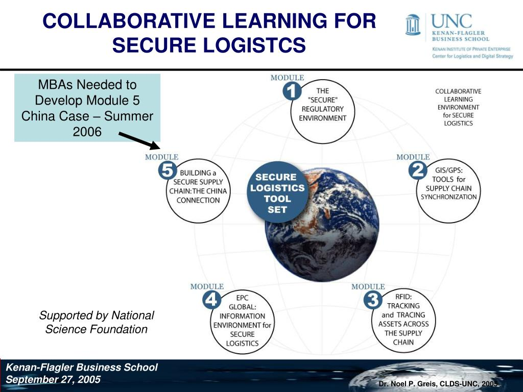 COLLABORATIVE LEARNING FOR SECURE LOGISTCS