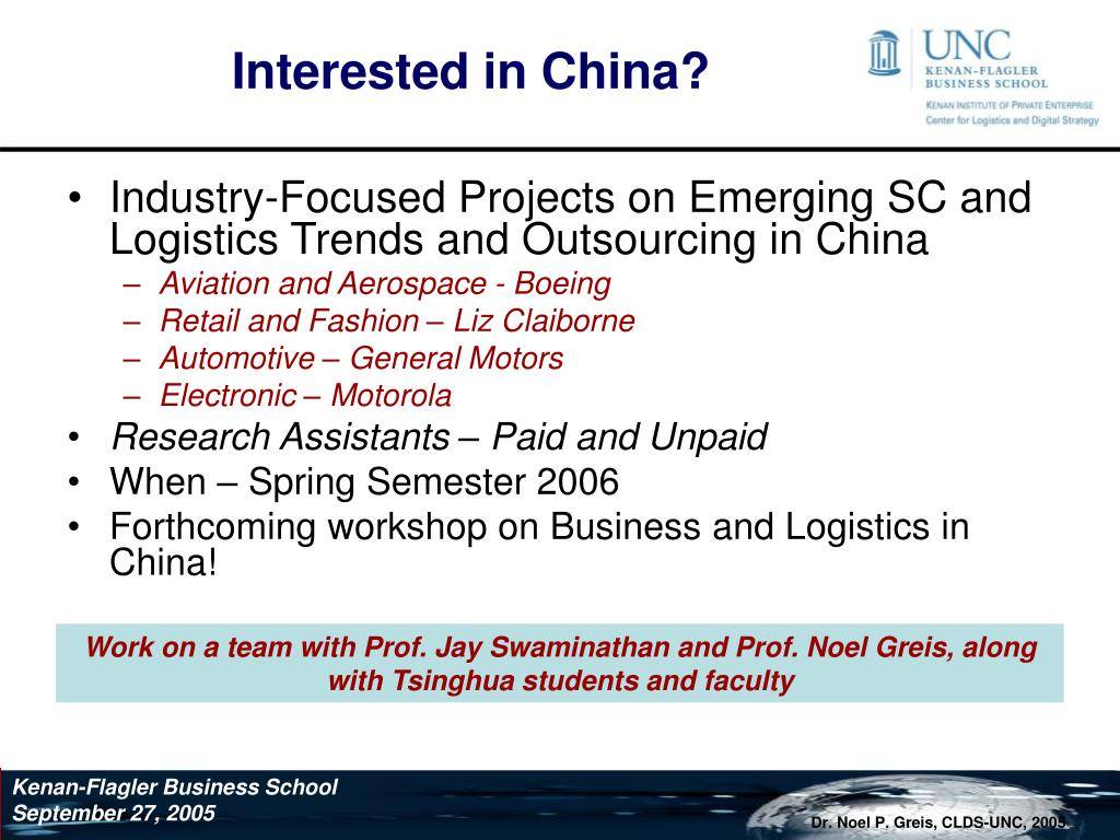 Interested in China?