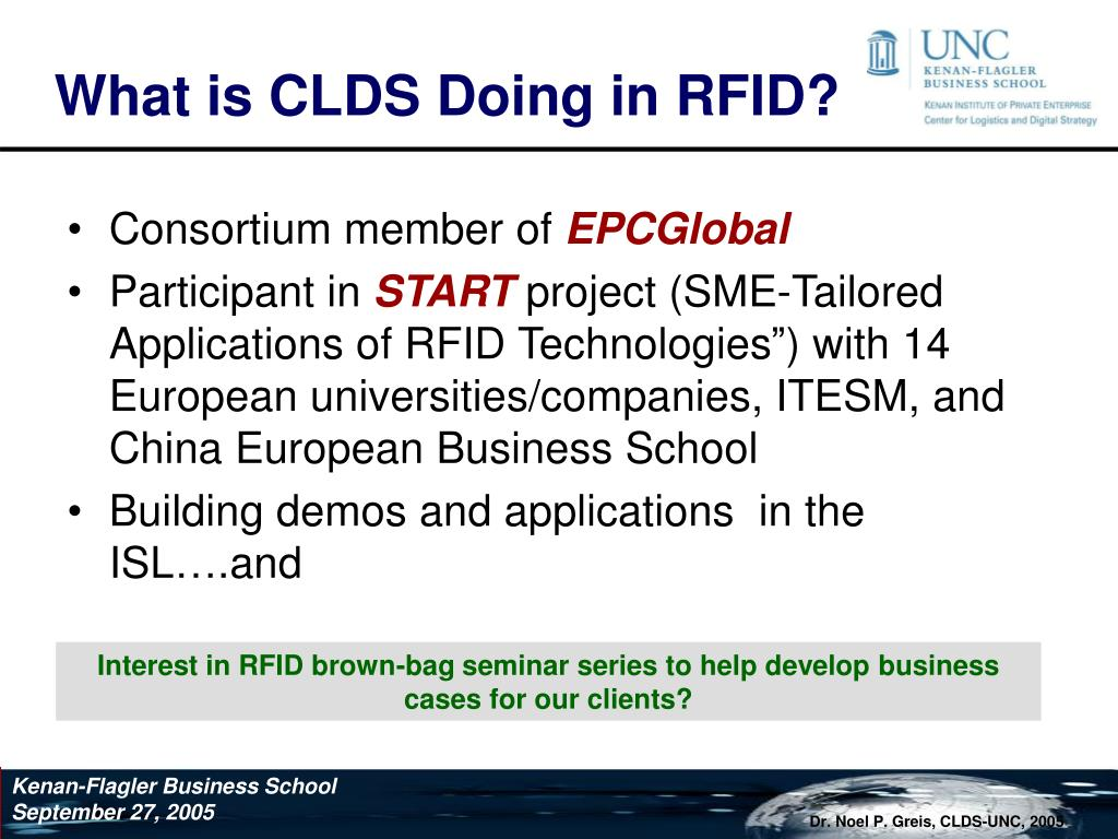 What is CLDS Doing in RFID?