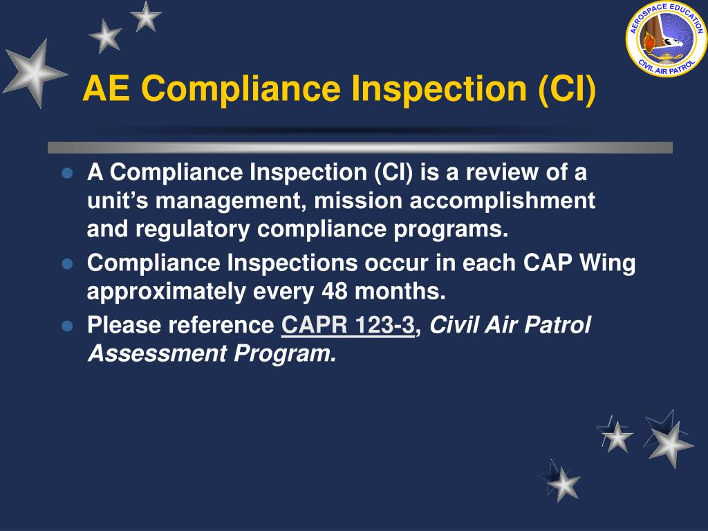 AE Compliance Inspection (CI)