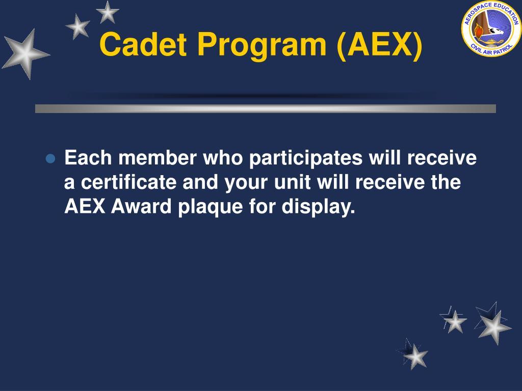 Cadet Program (AEX)