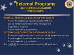 external programs aerospace education workshops