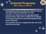external programs aex program in schools