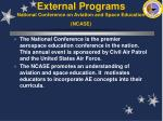 external programs national conference on aviation and space education ncase