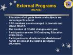 external programs ncase