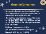 grant information43
