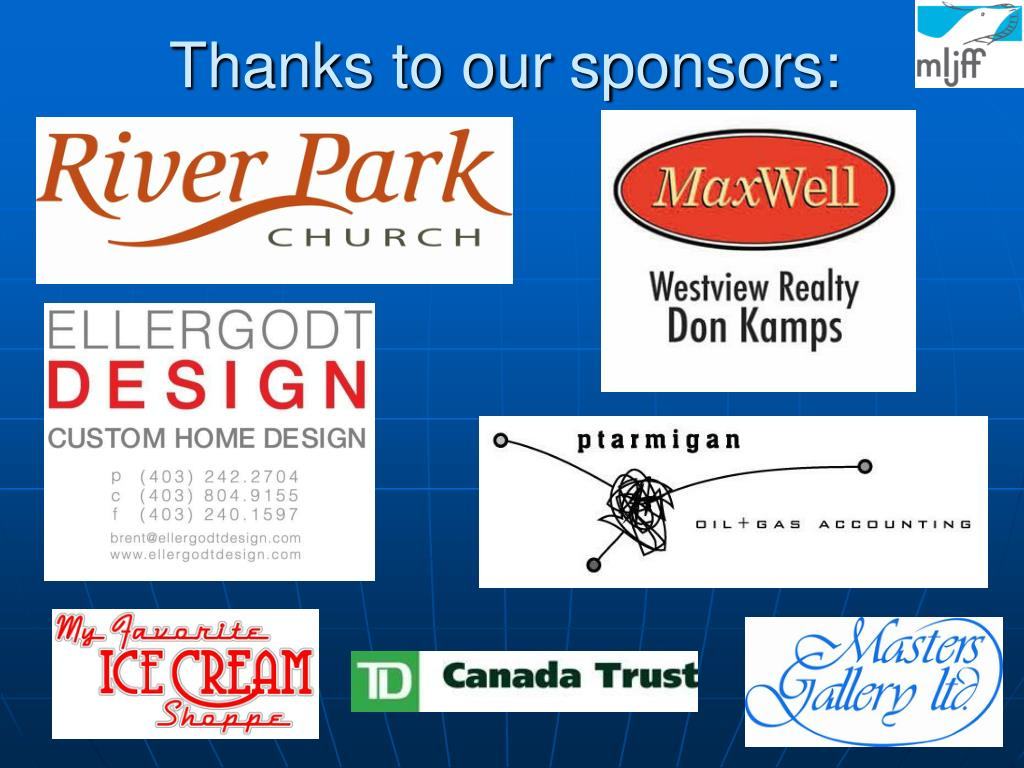 Thanks to our sponsors: