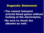 dogmatic statement58