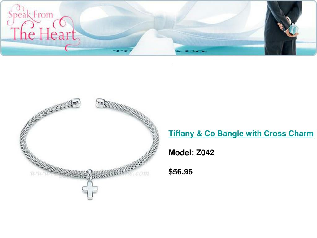 Tiffany & Co Bangle with Cross Charm