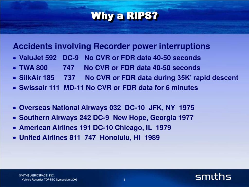Why a RIPS?