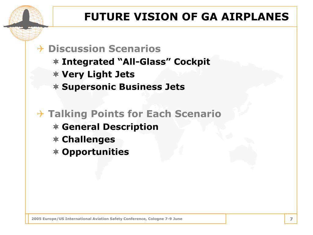 FUTURE VISION OF GA AIRPLANES