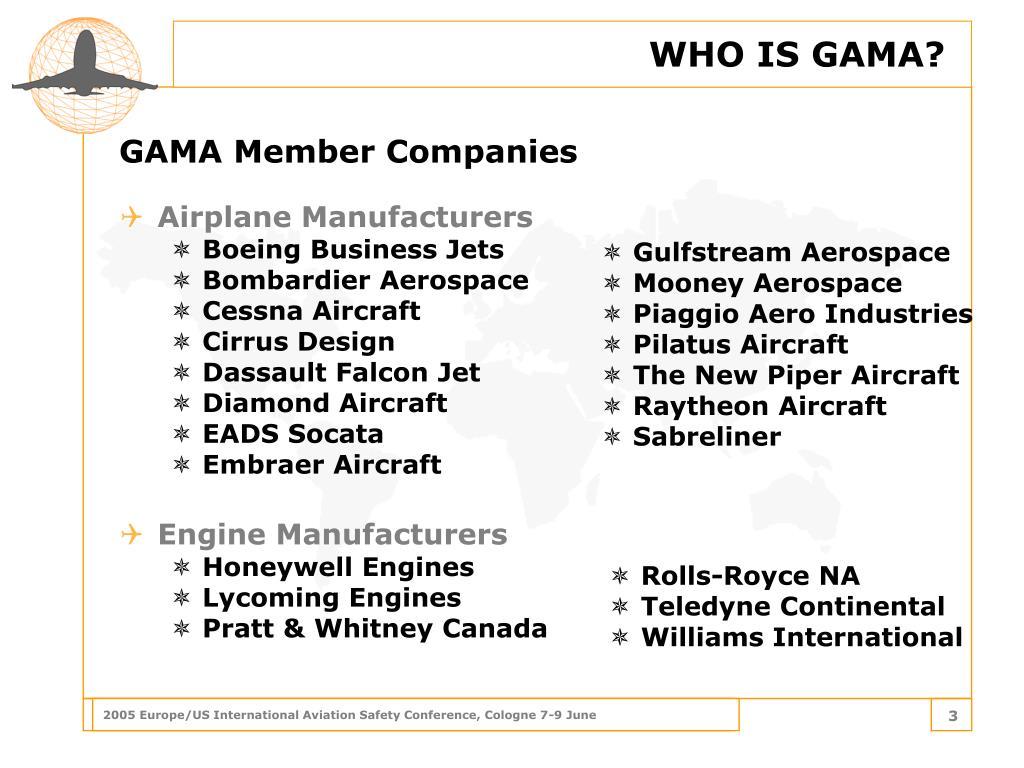 WHO IS GAMA?