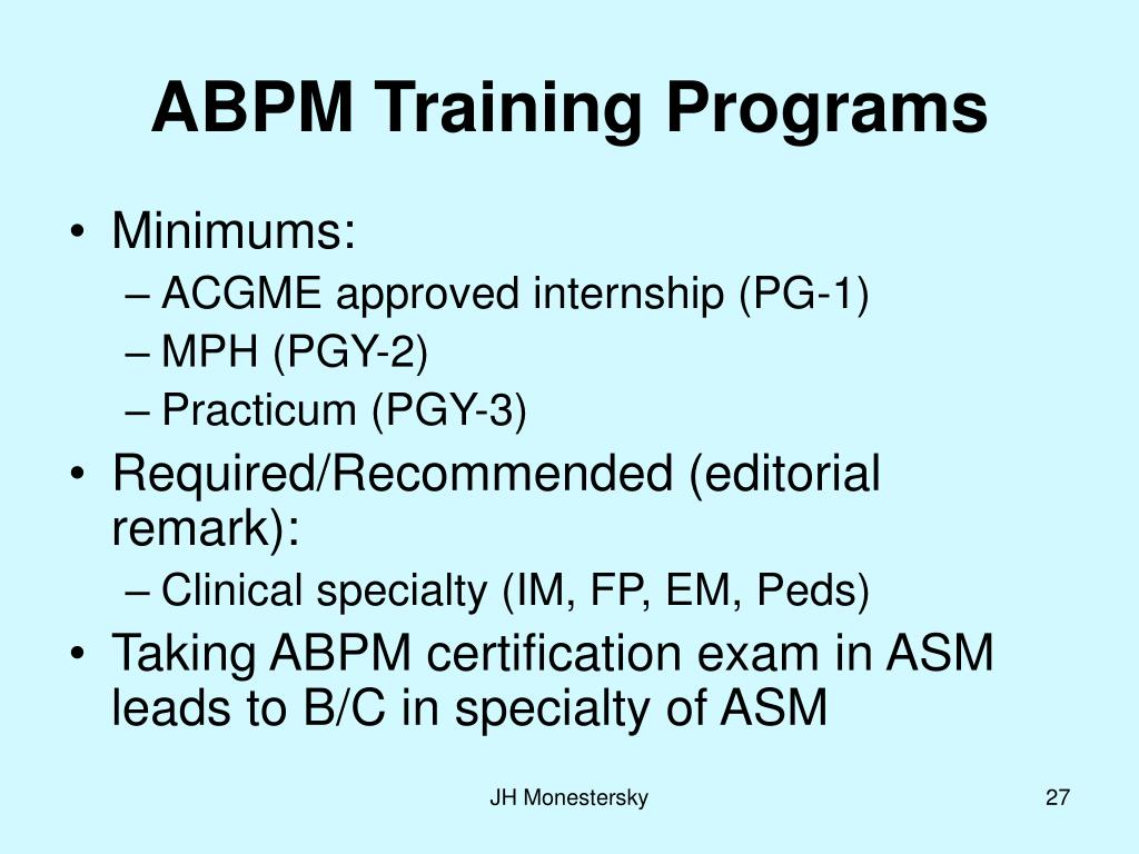 ABPM Training Programs