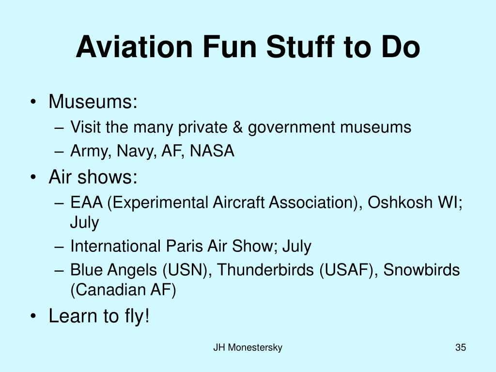 Aviation Fun Stuff to Do