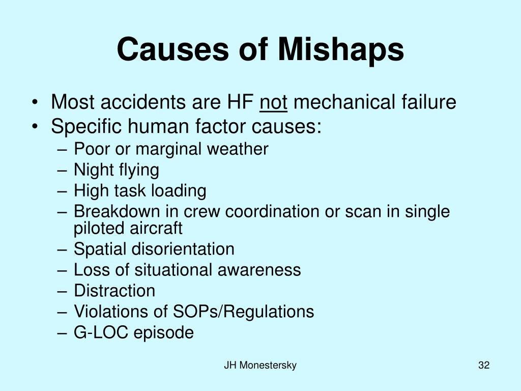 Causes of Mishaps