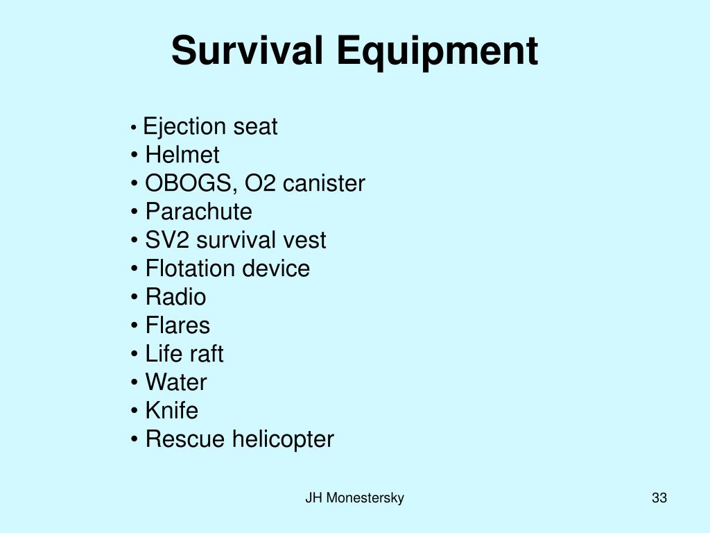 Survival Equipment