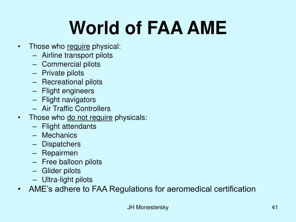 World of FAA AME