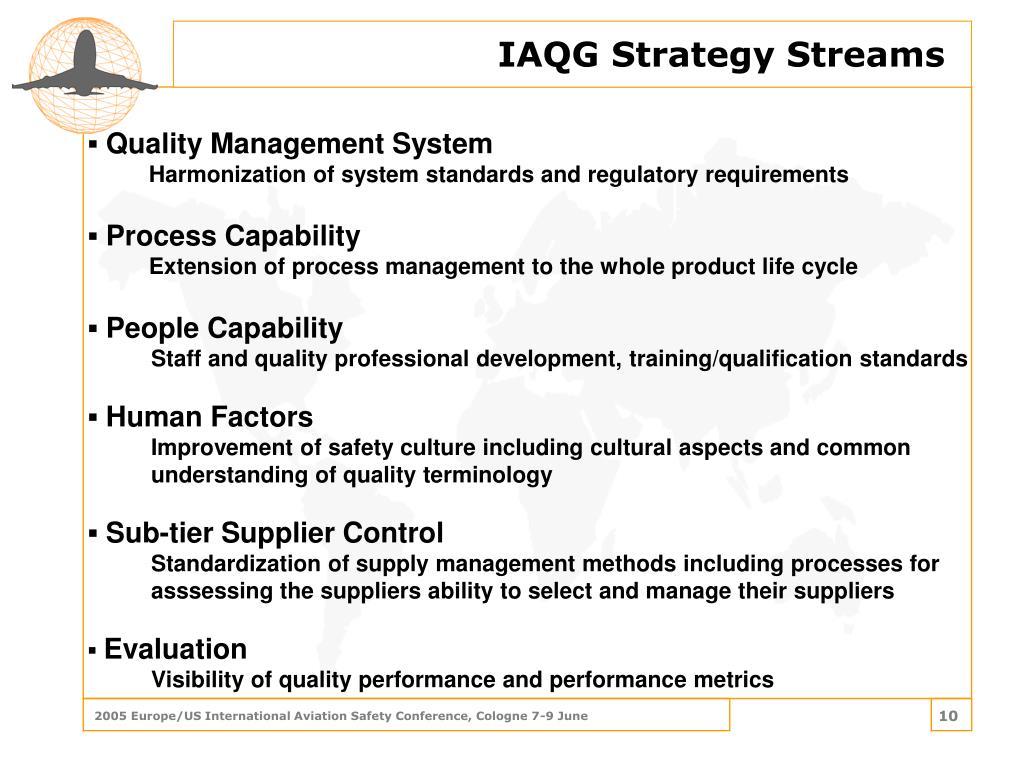 IAQG Strategy Streams