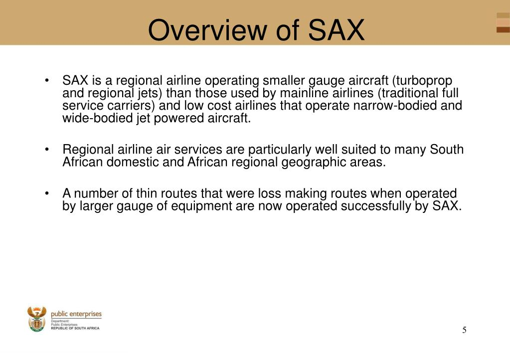 Overview of SAX