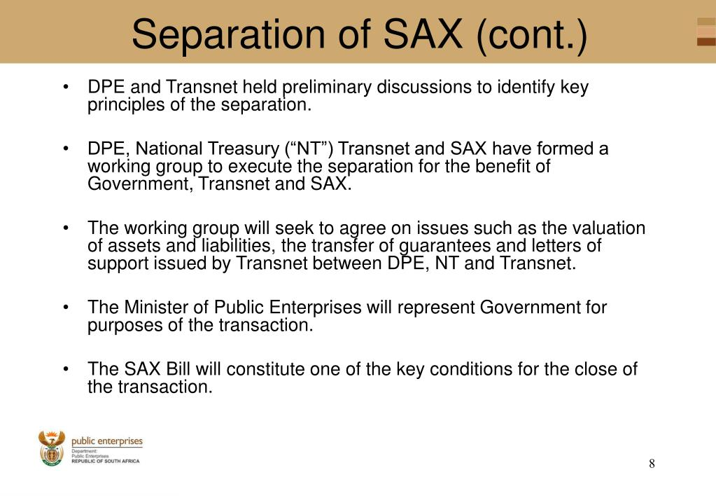 Separation of SAX (cont.)