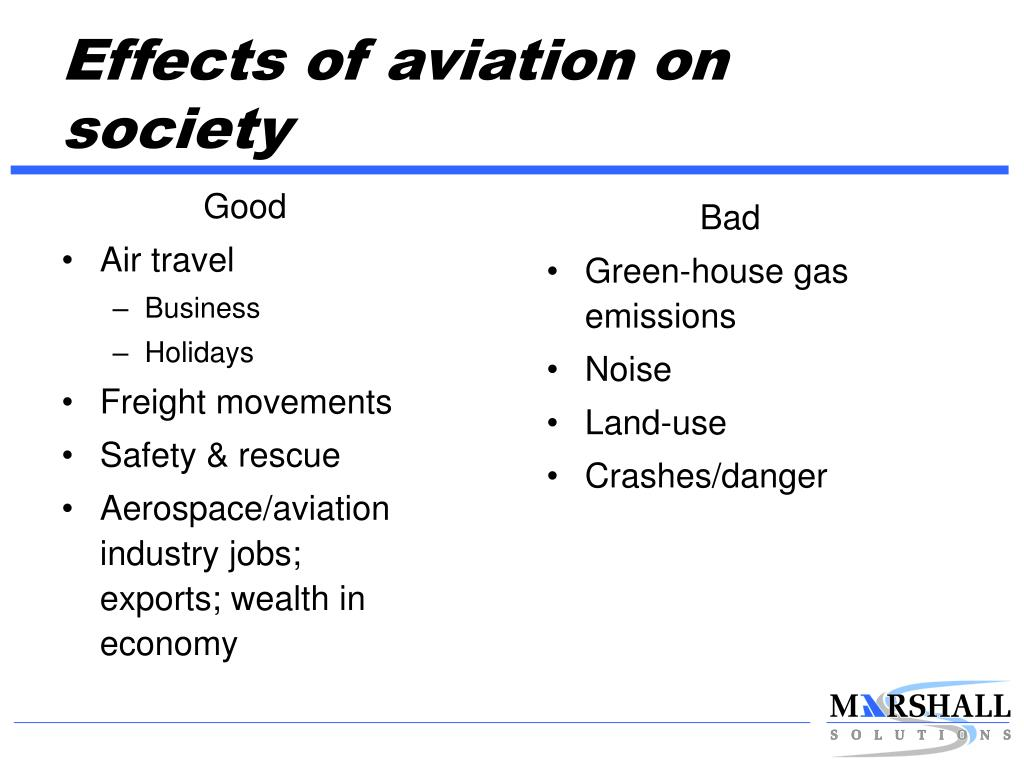 Effects of aviation on society