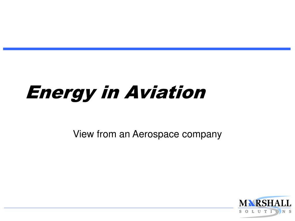 Energy in Aviation