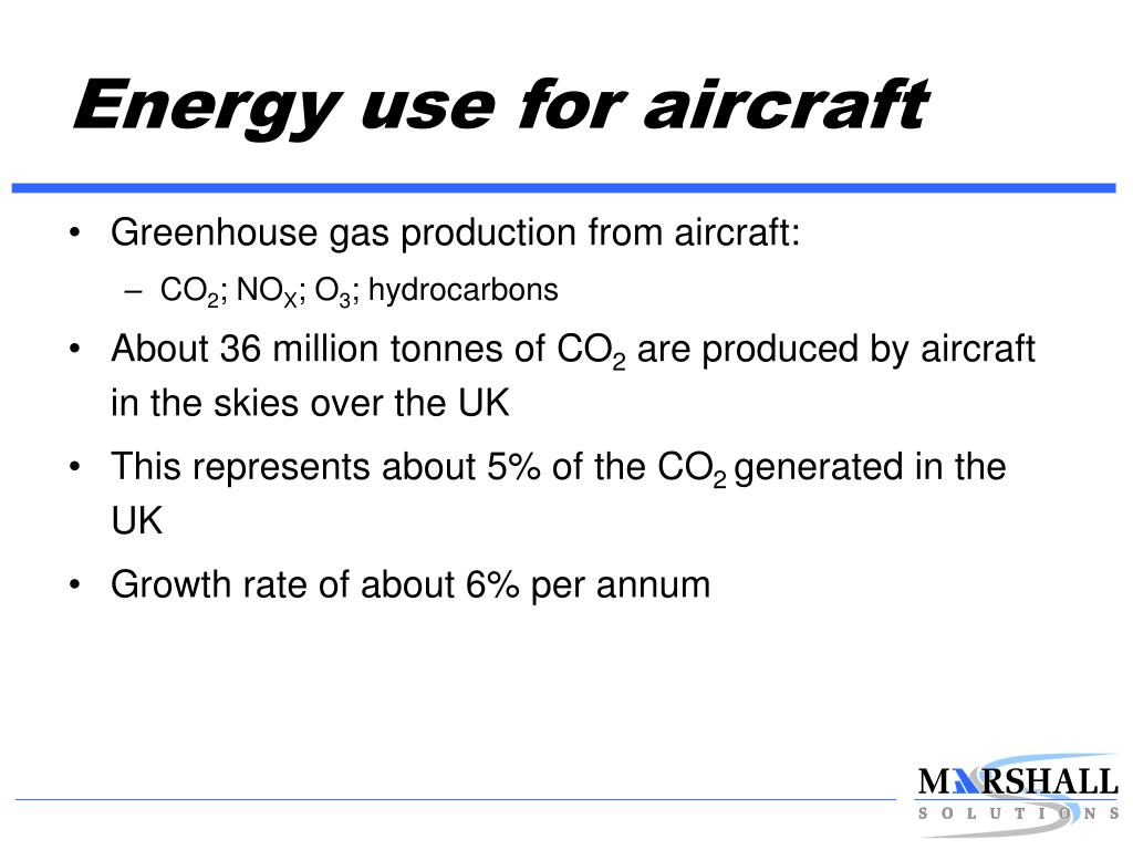 Energy use for aircraft