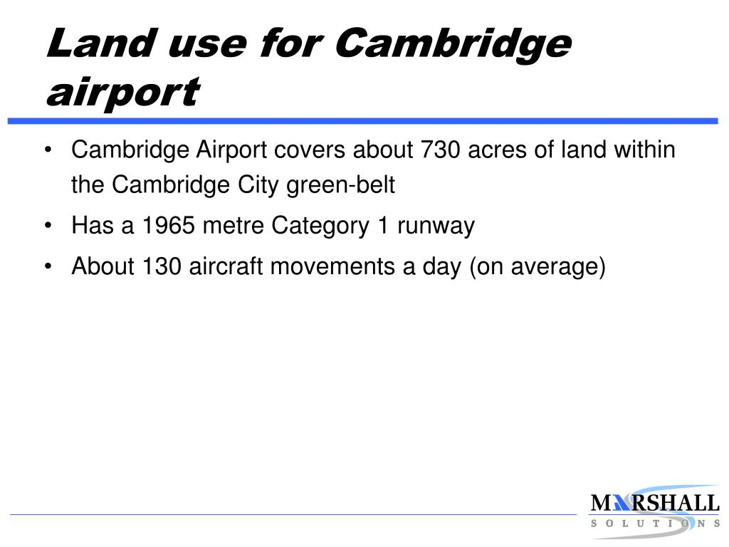 Land use for Cambridge airport