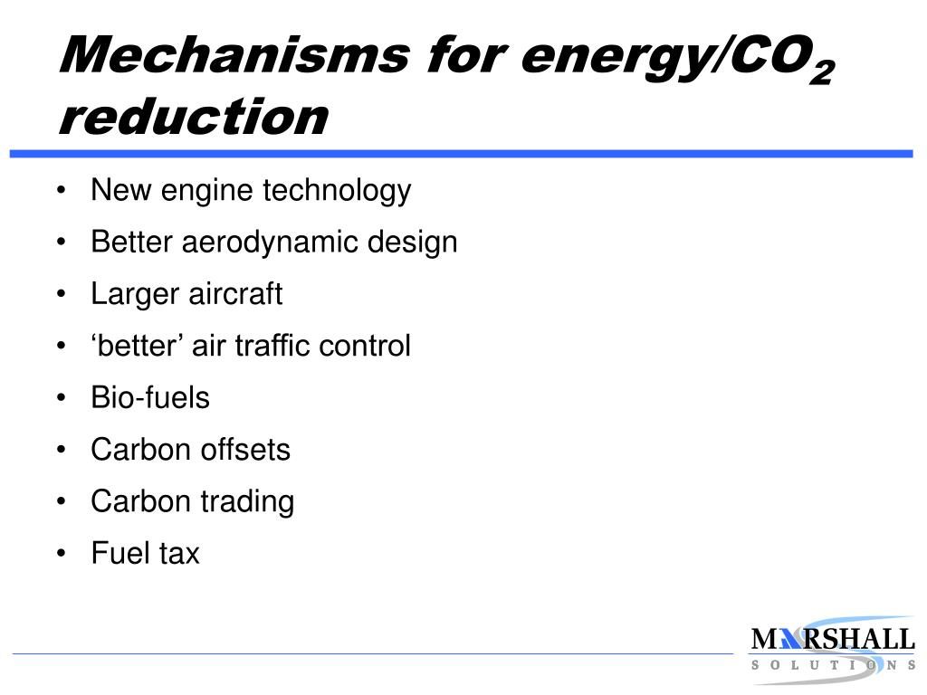 Mechanisms for energy/CO