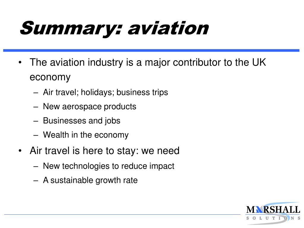 Summary: aviation