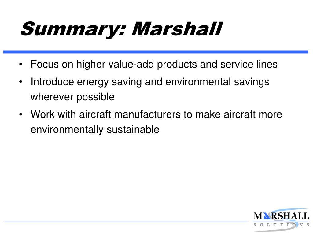 Summary: Marshall