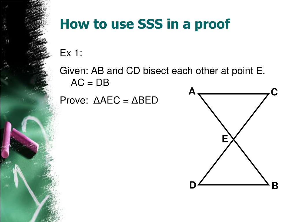 How to use SSS in a proof