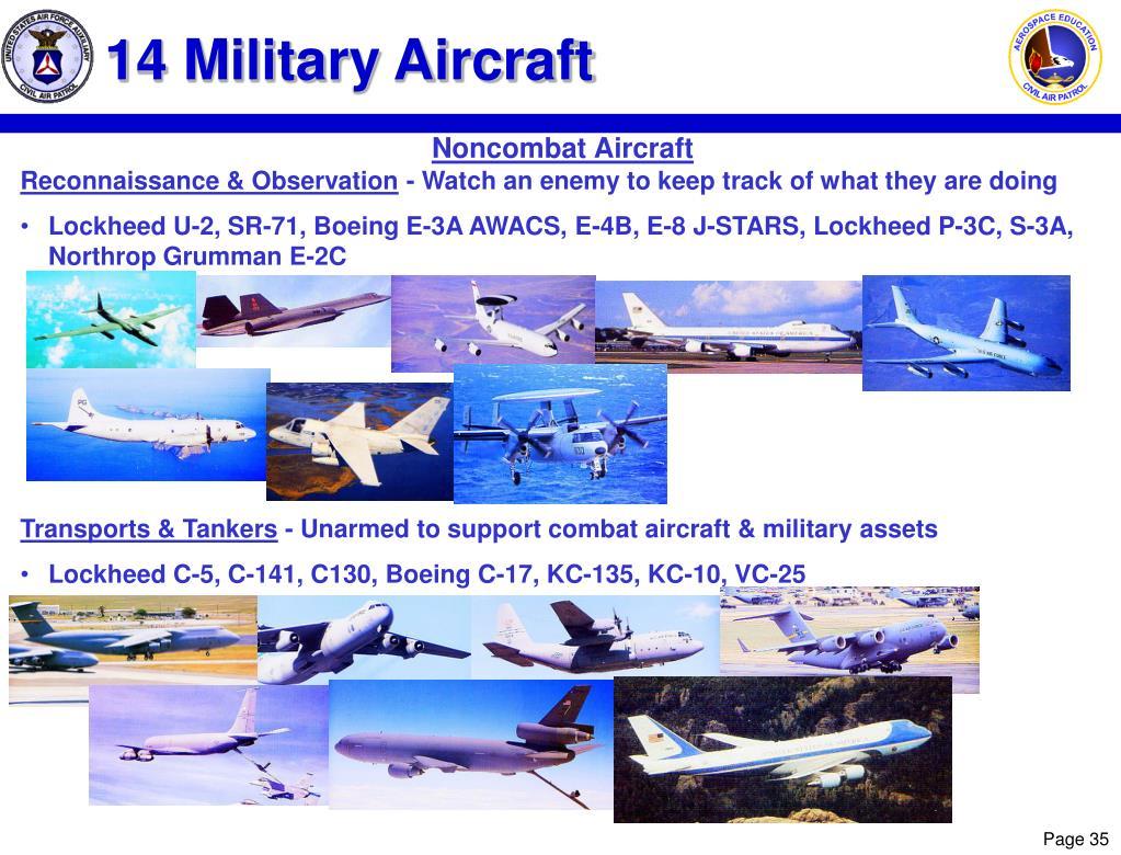 14 Military Aircraft