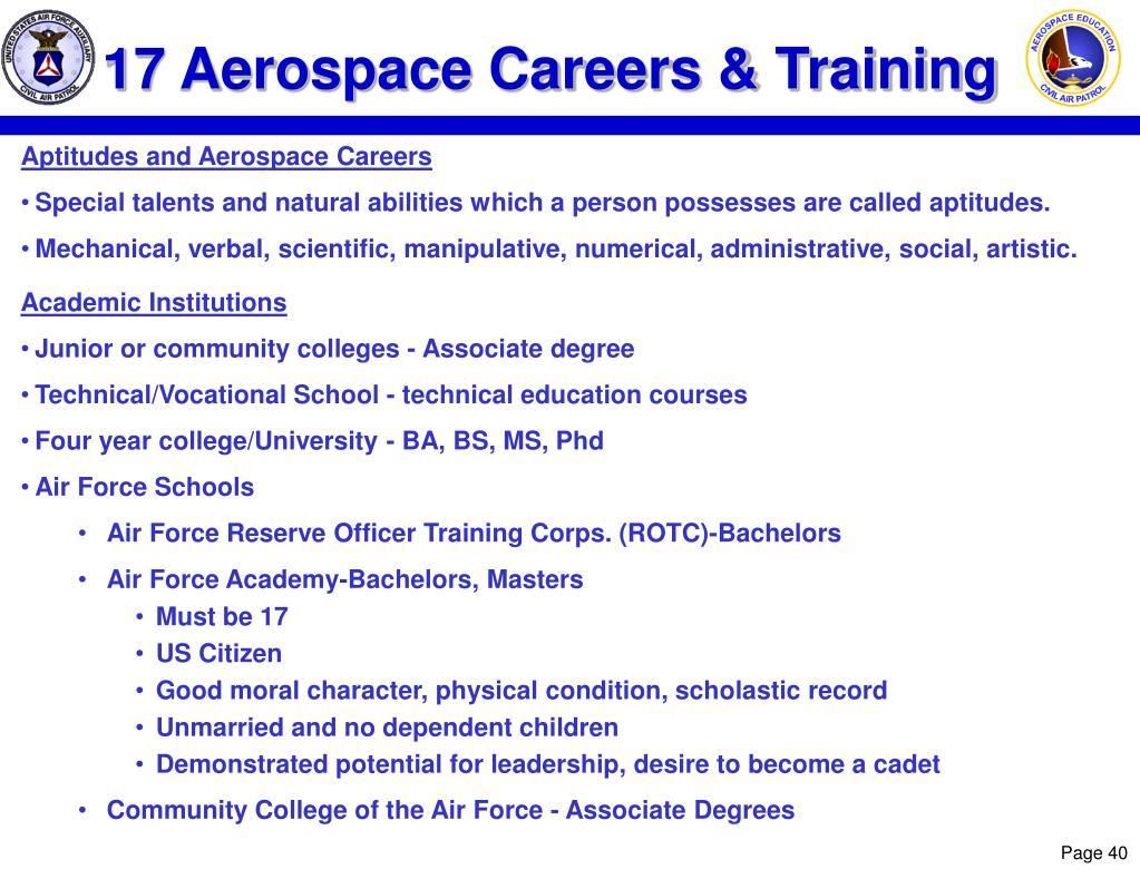 17 Aerospace Careers & Training