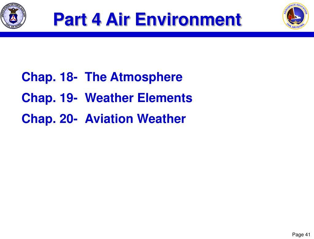 Part 4 Air Environment