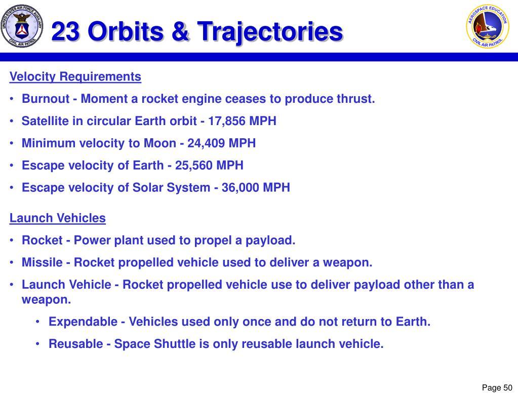 23 Orbits & Trajectories