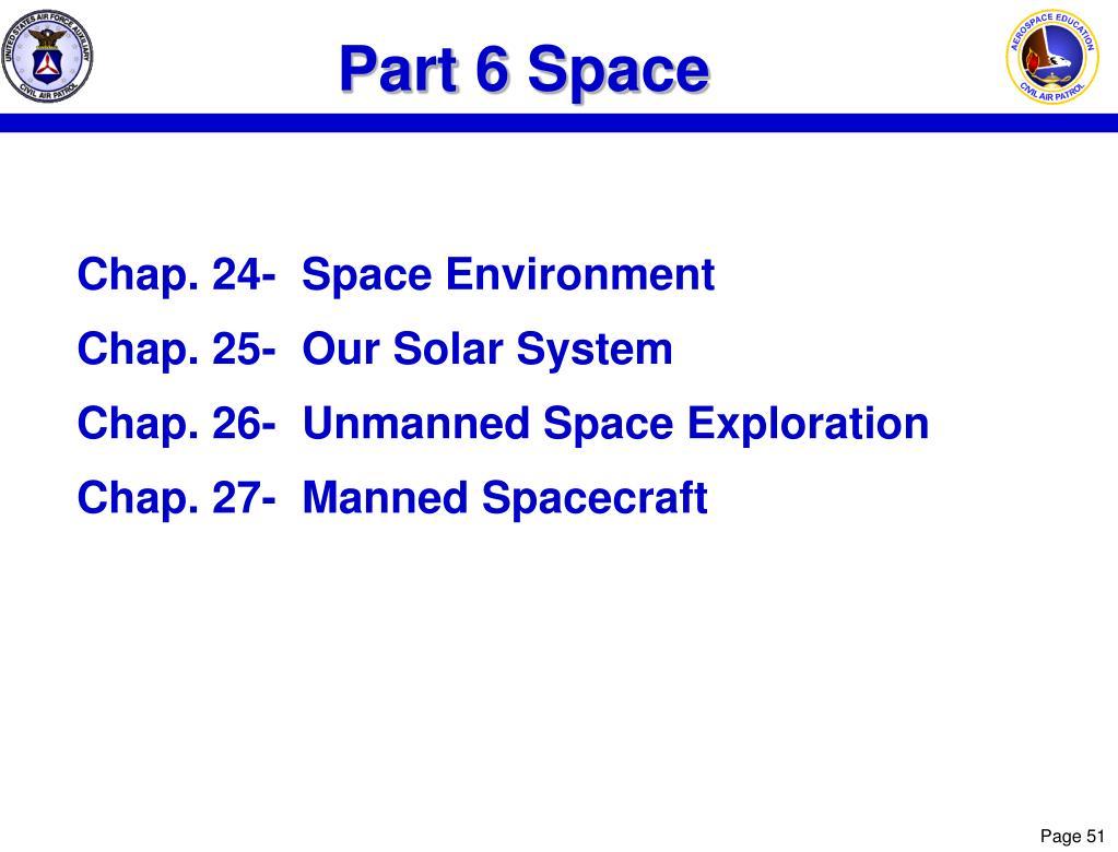 Part 6 Space