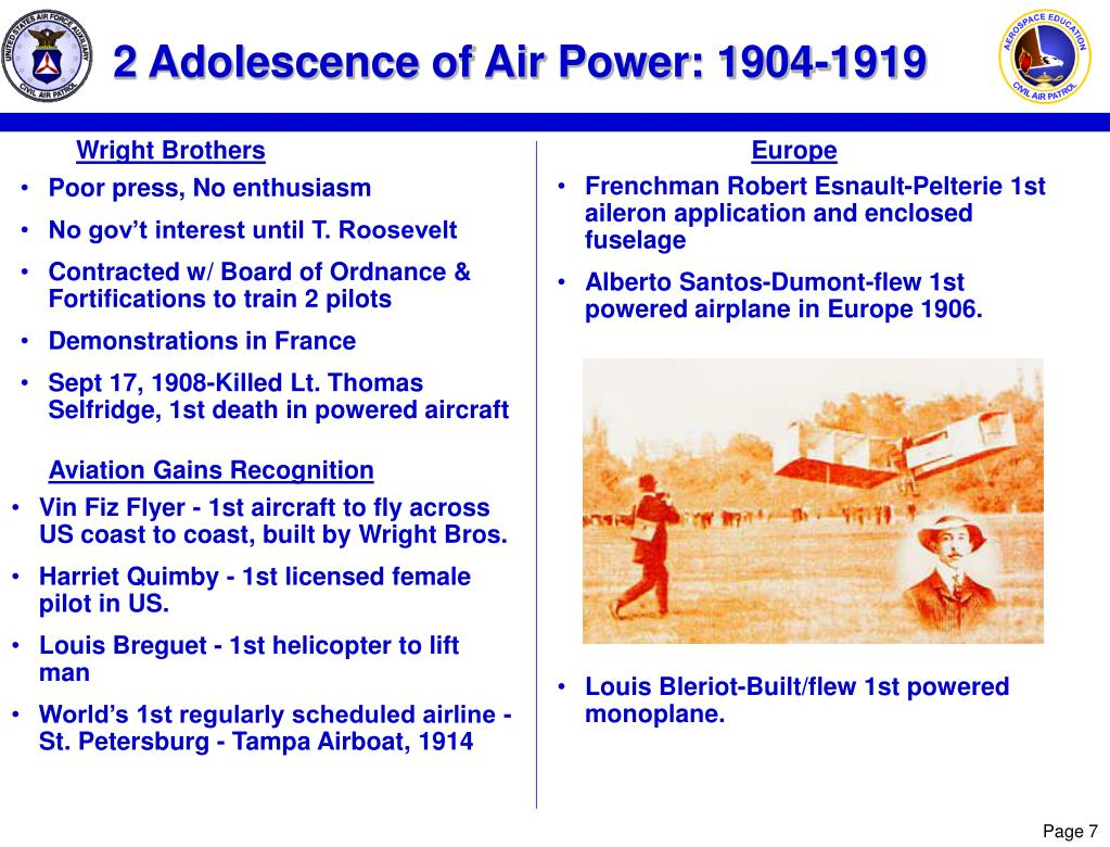2 Adolescence of Air Power: 1904-1919