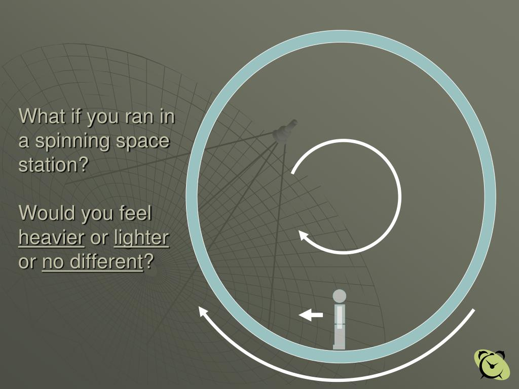 What if you ran in a spinning space station?