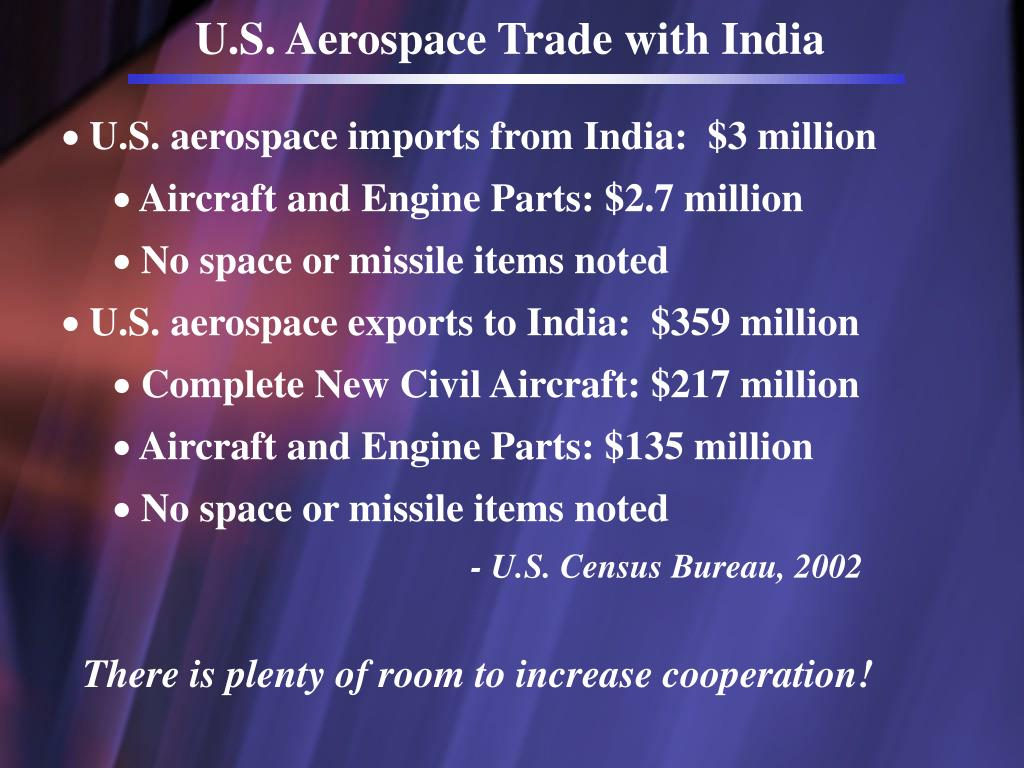 U.S. Aerospace Trade with India