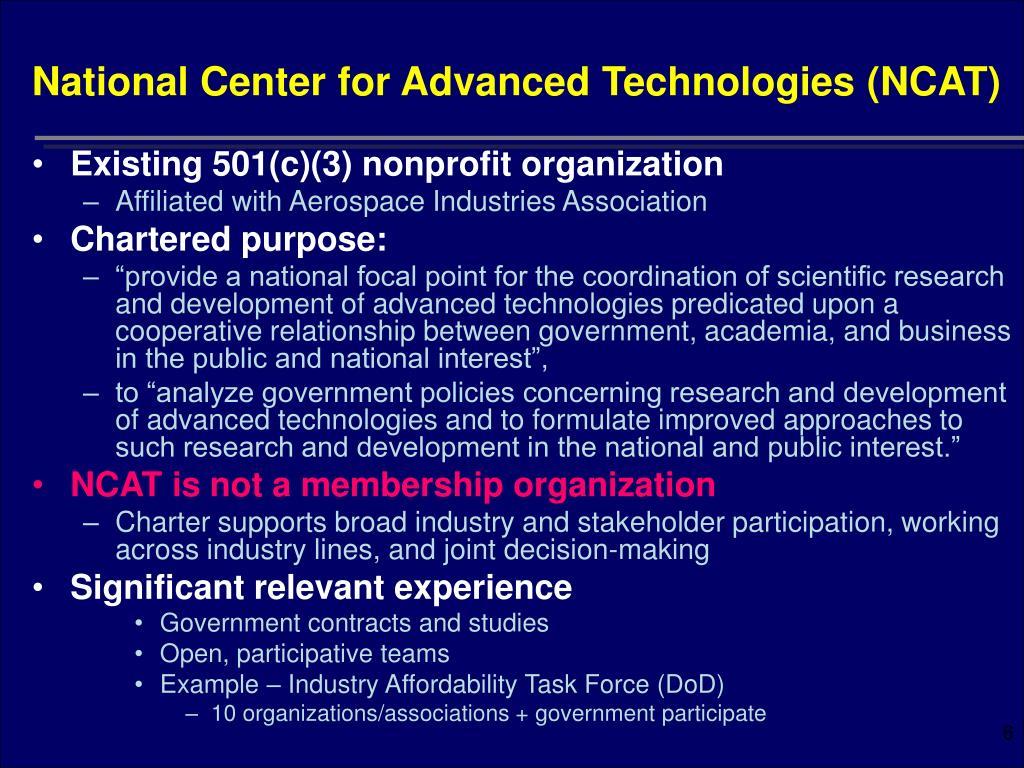 National Center for Advanced Technologies (NCAT)