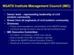 ngats institute management council imc