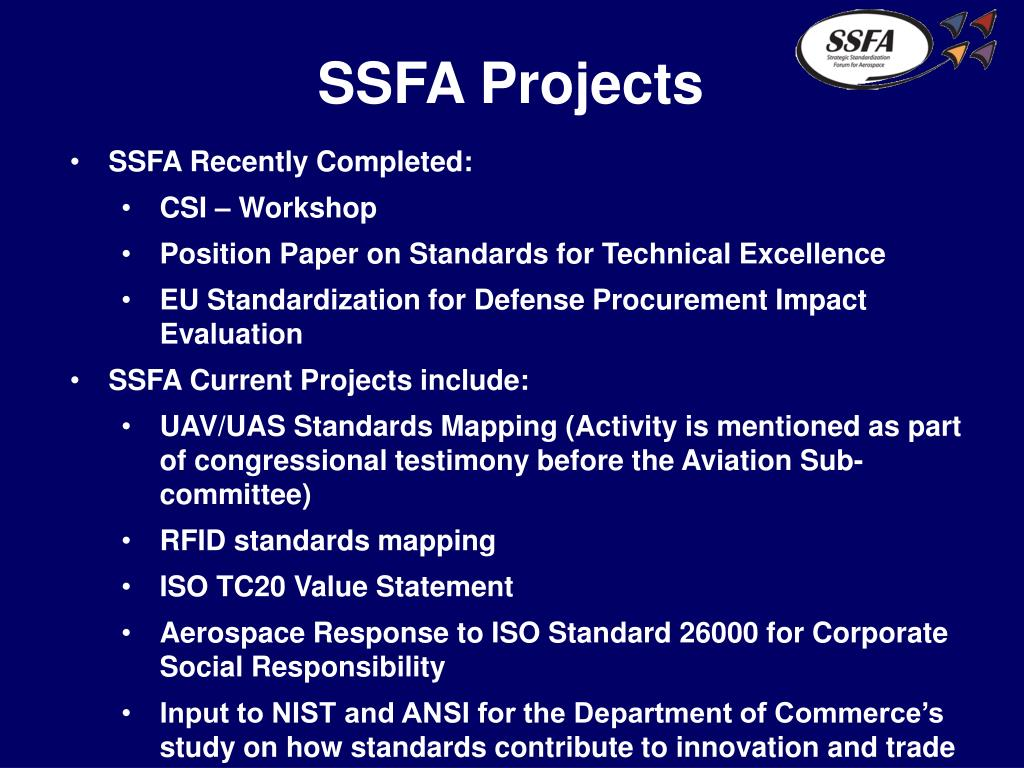 SSFA Projects